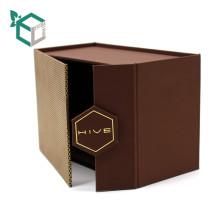 Embalaje de la caja y Trufa negra fina Contenido Trufa negra y marrón