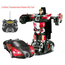 Recargable 2.4G Radio deformación de plástico Robot RC modelo de coche