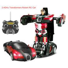 Аккумуляторная 2.4G Радио Пластиковые деформации робота RC модель автомобиля