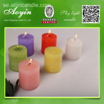 7,5 * 7,5 Flerfärgad Tearless Pillar Candle with Fragrance