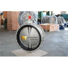 "Dn800 32"" acero inoxidable doble válvula de mariposa ensanchada con Ce ISO Wras aprobado (CBF01-TF01)"