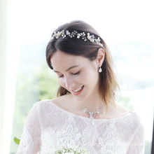 Rhinestone Pearl Elastic Headband Wedding Bride For Women Girls Luxury Hair Accessories Korean Hairband Feast Party Birthday