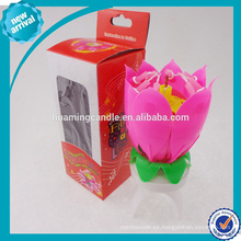Hermosa Flor De Cumpleaños-Música Vela, Trabajo De Fuego -India Market-Al
