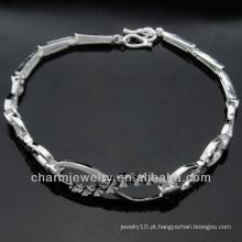 Venda directa de fábrica Moda 925 pulseiras de jóias de prata BSS-005
