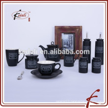 Black Color Ceramic Tableware Set