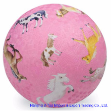 Pink Color 8.5 Inch Rubber Playground Balls