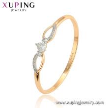52113 Bracelets joncs en alliage d'or de cuivre de l'environnement de la mode de xuping