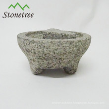 mortar and pestle with 3 legs granite molcajete