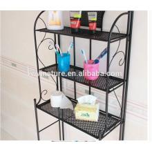 Serviette en métal d'organisateur de stockage de salle de bains d'étagère 3 de serviette sur le support Toliet