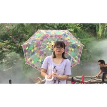 Hight quality transparent bubble poe eva custom logo prints see throught clear umbrella for women