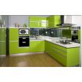 New Glossy Customized Modular Madeira Mobiliário de Cozinha para Gabinete (UV acabado)