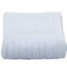 15BLT1012 cabo malha cobertores de cashmere para bebês