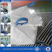 oberes Ventil, untere Ausflussöffnung / pp Jumbo Tasche / 1000kg Super Sack / pp große Tasche 1ton / Circular PP FIBC Bag