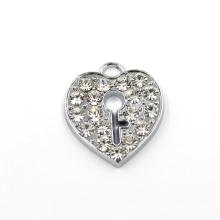 Moda em forma de encantos chave e trava pingente para colar