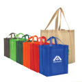 Green Custom Reusable 100% Polyester Foldable Shopping Eco Bag