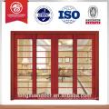HDF puerta de madera maciza puerta de entrada principal puerta de madera de doble puerta puerta de entrada doble
