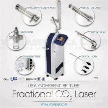 Cirugía láser de CO2 excitada por radiofrecuencia médica para la máquina de rejuvenecimiento y rejuvenecimiento cutáneo dermatológico
