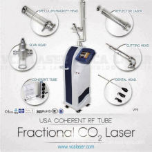 Medical RF-excited CO2 laser surgery for dermatology skin resurfacing and rejuvenation machine