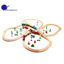 DIY Wooden Railway Sleepers Classic Railway train Toy Set