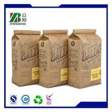 Kundenspezifische Brown Kraft Papier Taschen für Kaffee (ZB74)