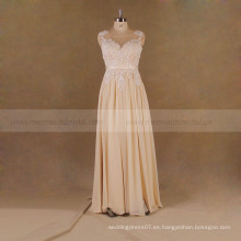 Venecia Lace Abierto Volver Boho vestido de novia de novia 2017