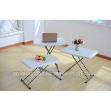 Muebles de jardín Mesa de plástico ajustable, muebles al aire libre Mesa de plástico plegable portátil pequeño para los niños, Proveedor de China Muebles modernos tabla plegable