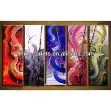 Arte abstracta da pintura a óleo das canvas da lona