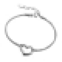 Pulsera en forma de corazón de la personalidad de plata esterlina 925 de las mujeres