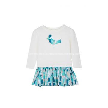 Вязаный пуловер с вырезом лодочкой на груди для девочек вязаный в стиле пэчворк