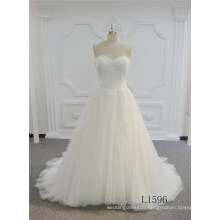 Beautiful Women Wedding Dress Strapless Ivory Wedding Dress Ball Gown