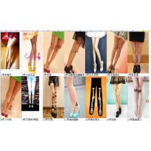 2015 Japon Asie mode nouvelle conception épissure tatouage chaussettes tube de stockage pour la jambe sexuelle