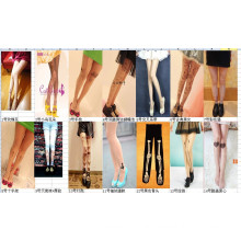 2015 Japan Asia fashion new design splicing tattoo socks stocking tube for sex leg