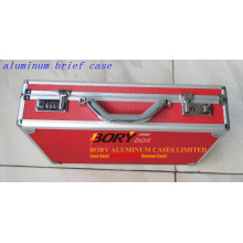 Custom OEM Aluminum Red Brief Case