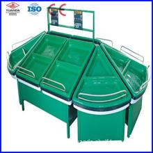 Acrylic Pallet Supermarket Fruit and Vegetable Display Storage Rack (YD-F11)