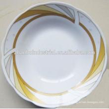 Placa de sopa profunda cerâmica com design de flor agradável
