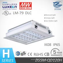 40W 160W IP66 LED techo empotrable luz del pabellón para la gasolinera con Sensor de movimiento
