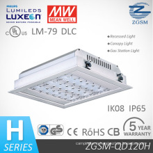 40W to 160W IP66 LED Ceiling Recessed Canopy Light for Gas Station with Motion Sensor