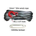 Free shipping 12mm x 30m winch rope