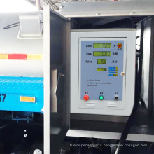 gas fuel dispenser with self-priming pump petrol station