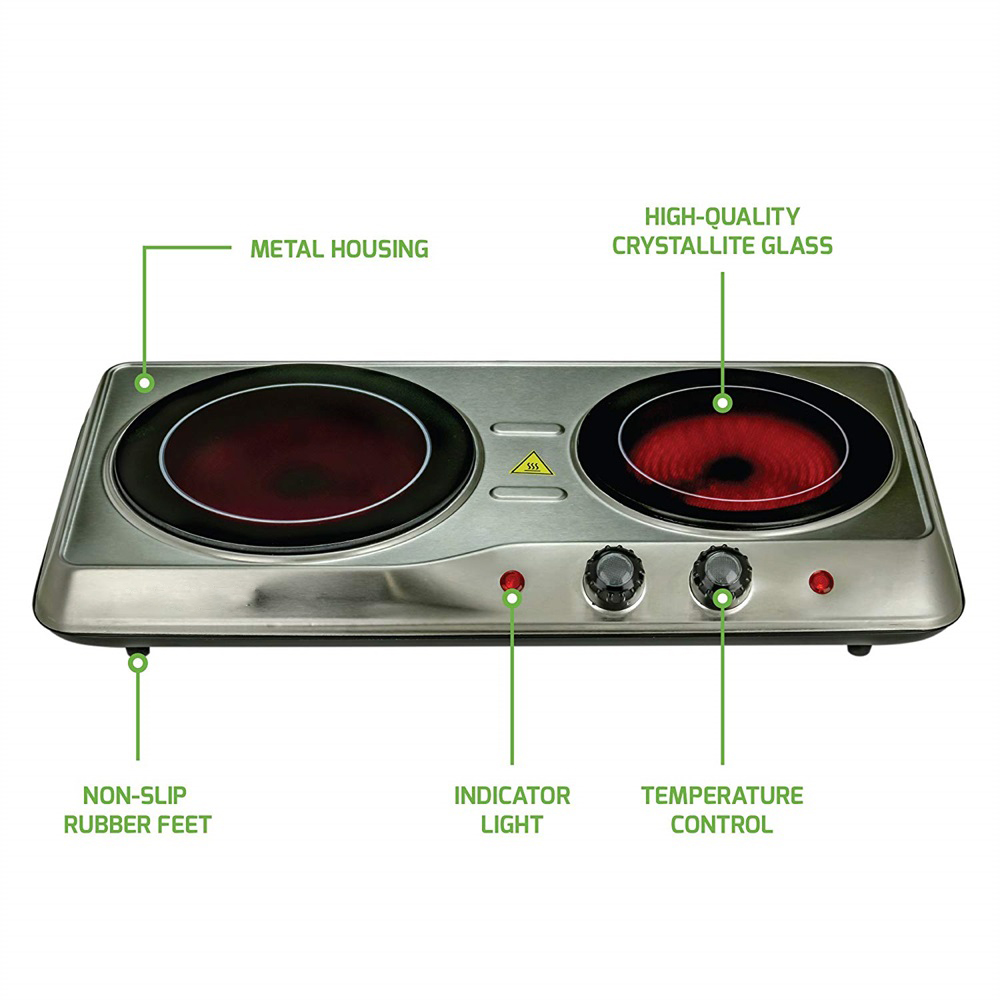 Glass Double Plate Cooktop