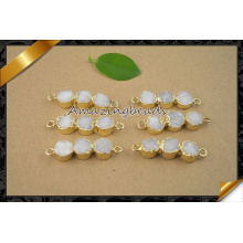 Fashion Round Druzy Connector Pendentif Perles Bijoux (EF0122)