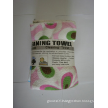 30*30cm Weft Knitting Cleaning Towel with Printing