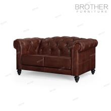 Canapé meubles de luxe en cuir vintage canapé chesterfield