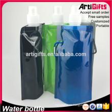 Diseño personalizado aislado botella de agua plegable al por mayor