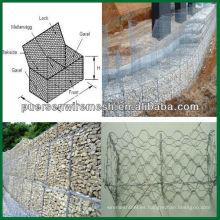 Galvanizado Gabions cesta / hexagonal calibre de malla de alambre