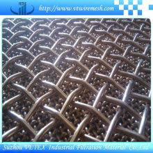 Bloqueo de curvado de acero inoxidable de malla cuadrada prensada