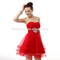 Rotes kurzes schulterfreies spanisches Art-traditionelles formales lateinisches Abend-Kleid