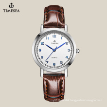 Classic Women′s Quartz Watch with Brown Lether Strap 71044