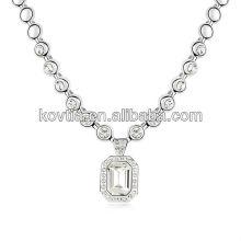 Bride luxury wedding necklaces fashion diamond jewelry for women
