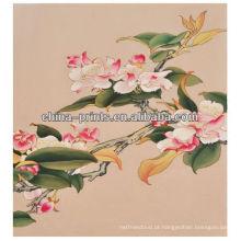 Pintura a óleo colorida da lona da flor da alta qualidade